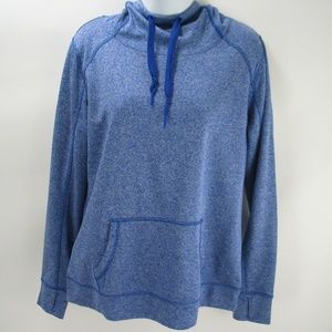 5/$25 Avia Athletic Blue Hoodie Pocket Pullover L